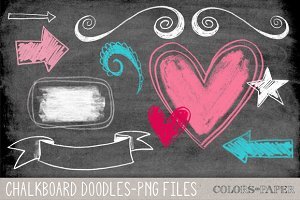 Chalkboard Doodles. Clipart/Brushes