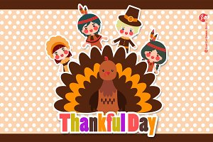 Digital Clipart Thankful Day