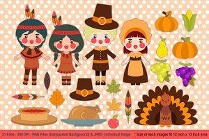 Thankful Day Digital Clipart