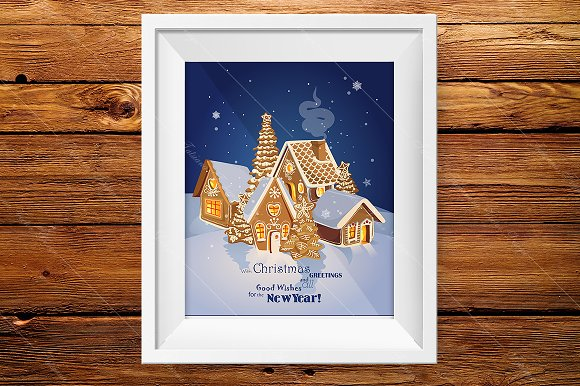 Christmas greeting card. New Year - Illustrations