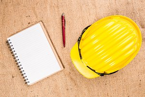 Safety helmet and blank book
