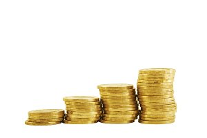 Golden pile coins