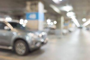 Abstract blur car parking