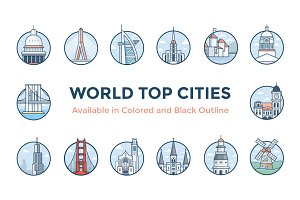 World Cities Illustrations