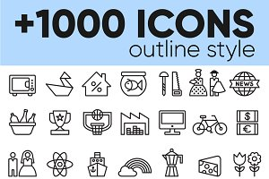 +1000 OUTLINE ICONS