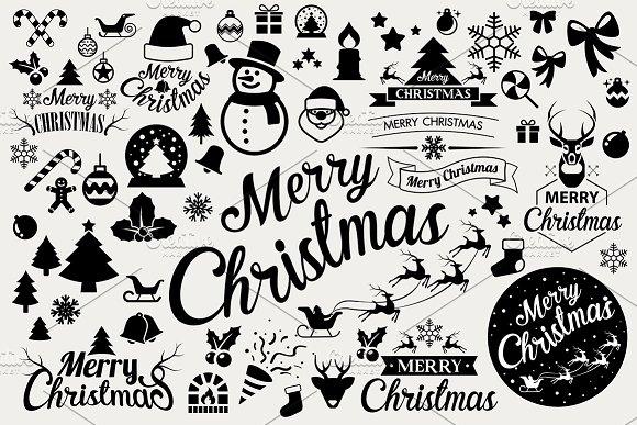 Christmas icons set . Vector eps10 - Icons