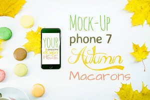 Mock-Up Phone 7 Autumn Macarons 9in1