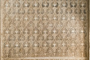 Islamic ornaments on wall.