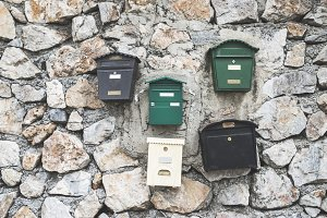 Various mailboxes