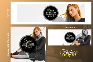 Fashion Social Banner Only $2