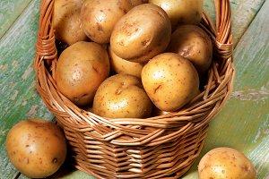 Raw Smal Potatoes