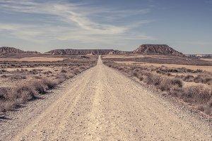 Dirt american road.