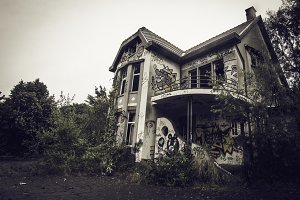 Abandoned villa house