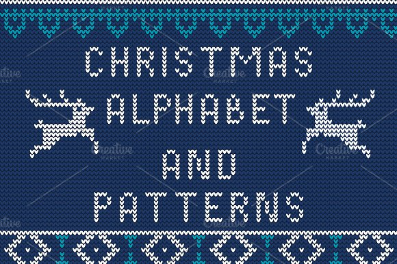 how to knit letters knitted alphabet and patterns patterns on creative market 22315 | preview