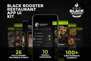 Black Rooster restaurant App ui kit