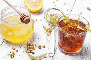 Linden herbal tea