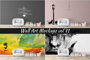 Wall Mockup - Sticker Mockup Vol 71