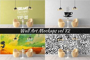 Wall Mockup - Sticker Mockup Vol 72