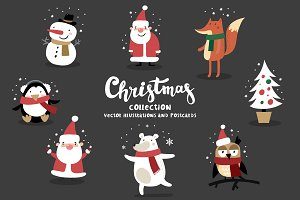 Christmas collection card