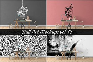Wall Mockup - Sticker Mockup Vol 73