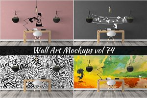 Wall Mockup - Sticker Mockup Vol 74