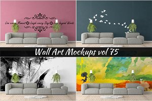 Wall Mockup - Sticker Mockup Vol 75