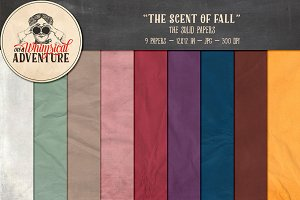 The Scent Of Fall Solid Papers