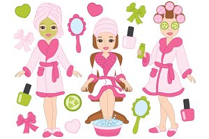 Vector Spa Girls Set