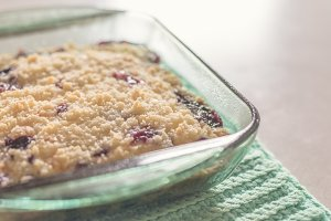 Warm Blueberry Coffee Cake