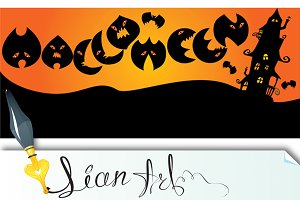 3 invitation cards to Halloween part