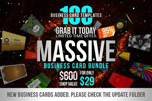 100 Massive Business Card Bundle