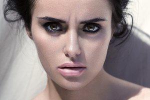 Closeup fashion beauty portrait