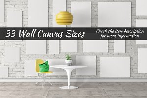 Canvas Mockups Vol 22