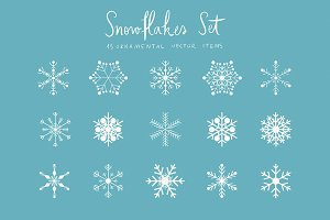 Snowflakes Set (vector)