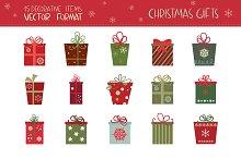 Christmas Gifts (vector set)