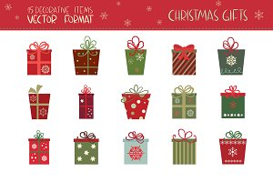 Christmas Gifts (vector set)