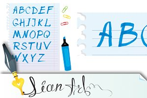 Alphabet set - marker letters