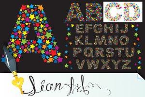 alphabet - stars letters