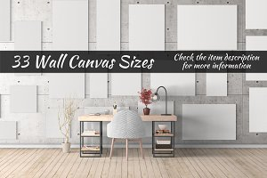 Canvas Mockups Vol 23