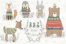 Winter Collection.Animal set
