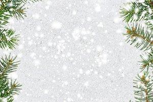 snowy glittering christmas