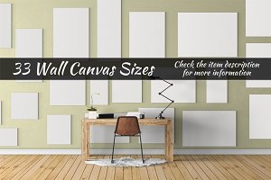 Canvas Mockups Vol 25