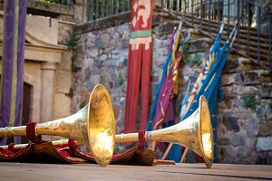 Trumpets made of brass
