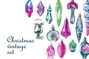 Christmas vintage set