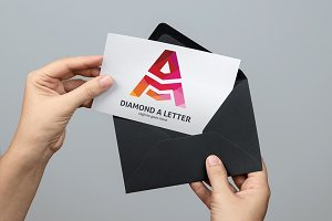 Diamond A Letter Logo