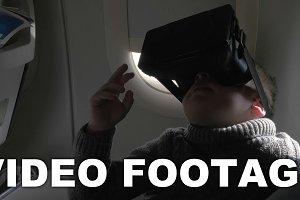 Child using VR-headset