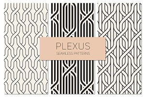 Plexus Seamless Patterns Set 1