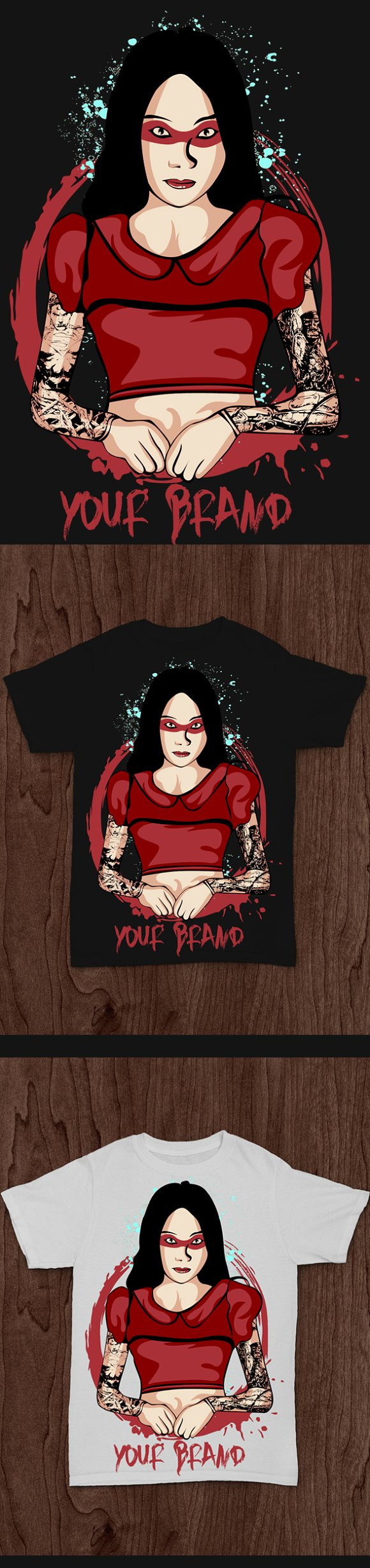 Lady Tattooed 9 in Illustrations - product preview 1