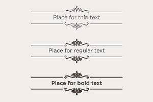 Retro text dividers set.