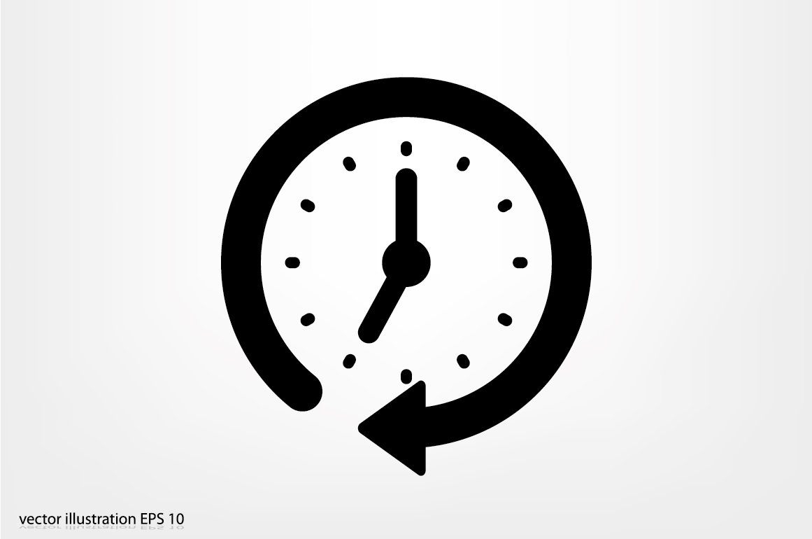Clock Icon Vector. ~ Icons ~ Creative Market